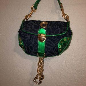 Bebe mini bag in blue and green